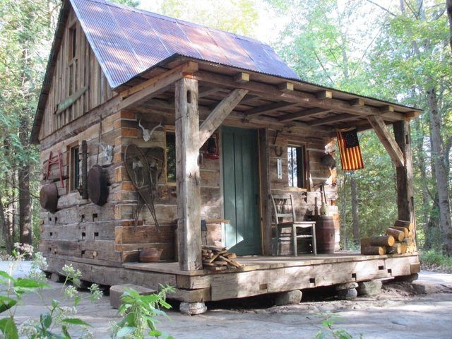 hunting cabin in a forest clearing 1280 960 tiny house Hunting Cabin