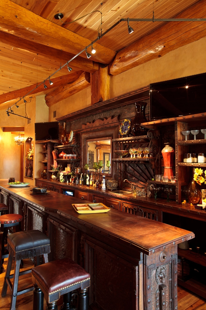 log cabin awesome rustic home bar dallas passion Log Cabin Bar Areas