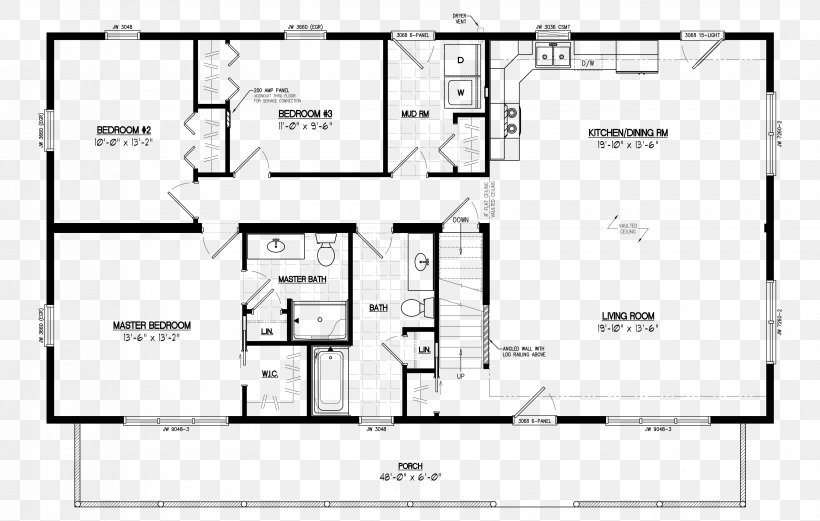log cabin house plan cottage floor plan png 3300x2100px Cabin House Floorplans