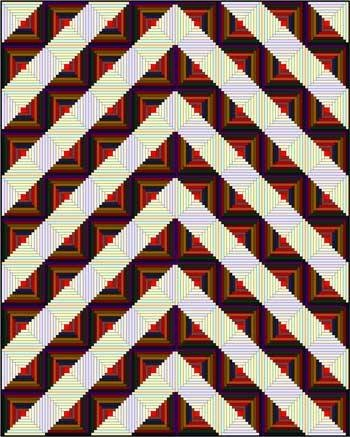 log cabin quilt designs Log Cabin Chevron