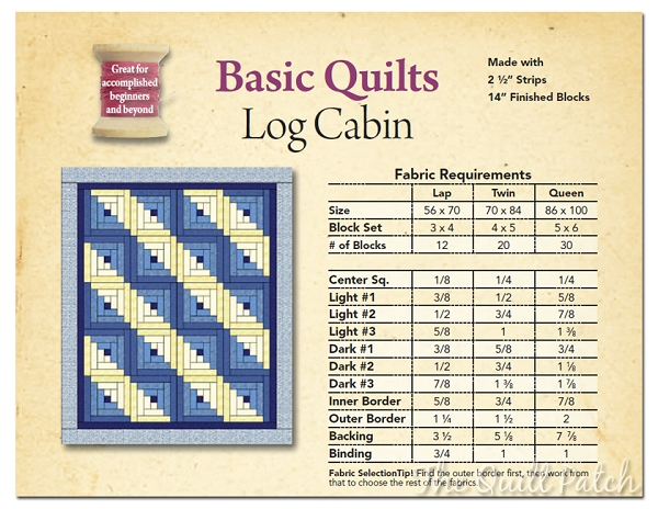 log cabin quilt fabric requirements bing images log Log Cabin Quilt Pattern Using 2 1/2 Inch Strips