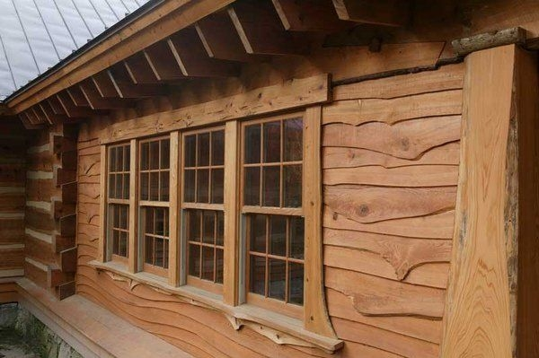 log cabin siding materials and options wood vinyl or Cabin Siding