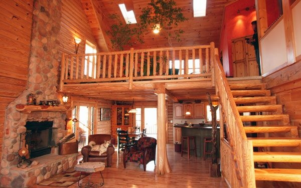 log floor plans house plans and more house plan with Loft Ideas In Log Cabin