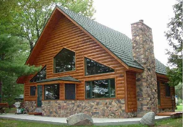 log siding will change your concept of a log home the Cabin Siding