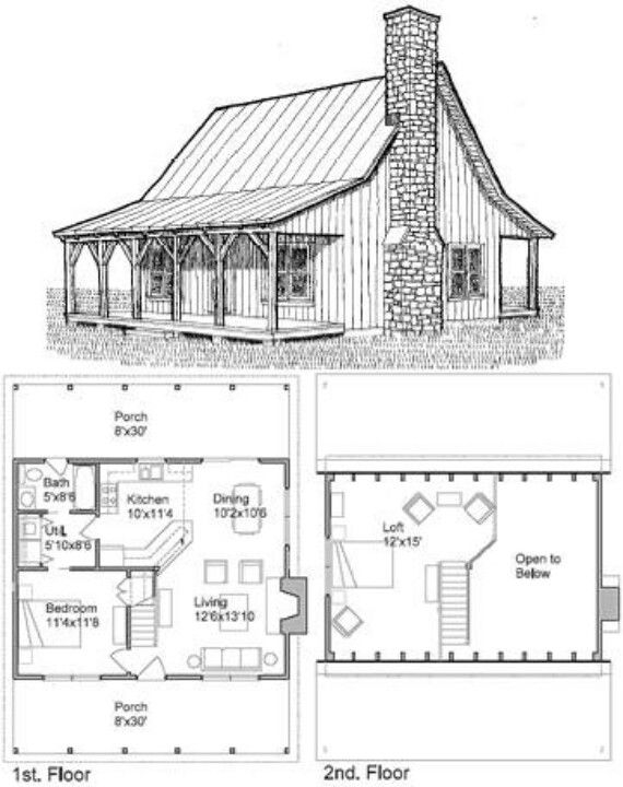 love this house one room cabins cabin plans with loft Small Cabins Plans With Lofts