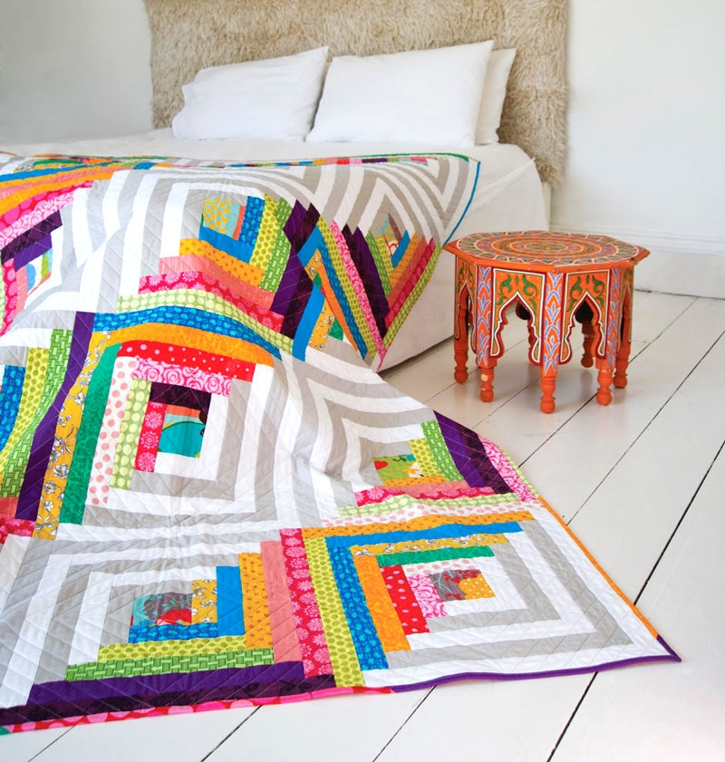 make your own log cabin quilt pattern suzy quilts Log Cabin Quilts Modern