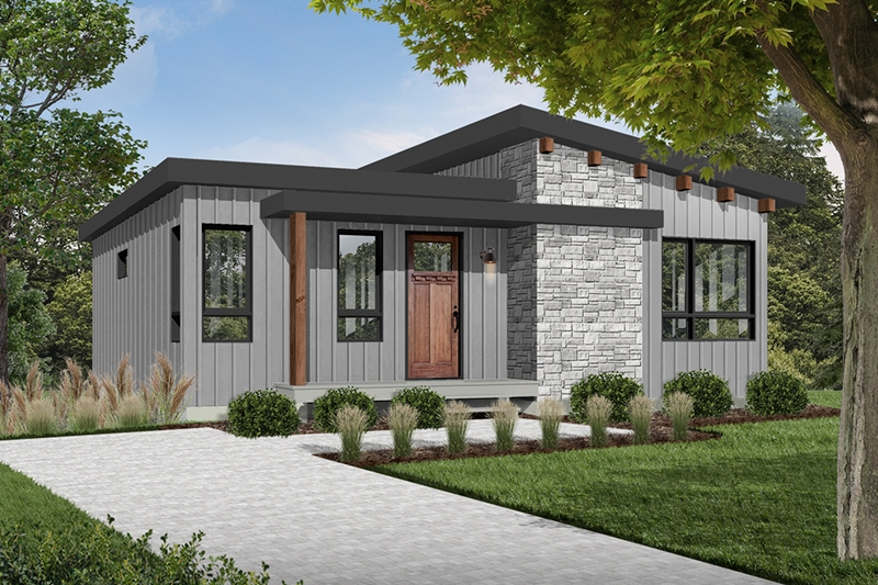 meade modern cabin plan 032d 0834 house plans and more Modern Cabin House