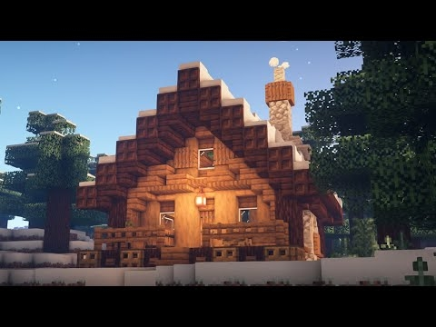 minecraft how to build a winter cabin Minecraft Cabin House