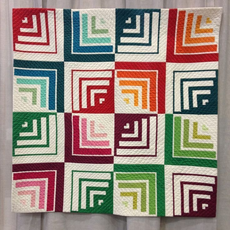 modern log cabin quilt made with solids log cabin quilts Log Cabin Quilts Modern