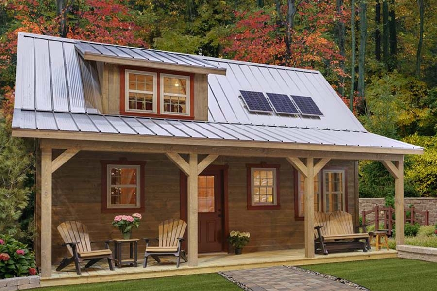 off grid living simplicity a 608 sq foot cabin that rocks Small Off Grid Cabin
