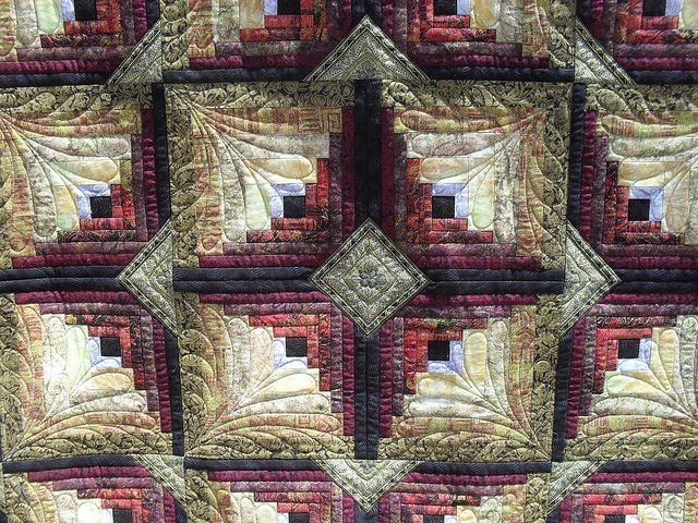 pin quilting with judy martin on sewingquilting in 2020 Log Cabin Quilt Designs