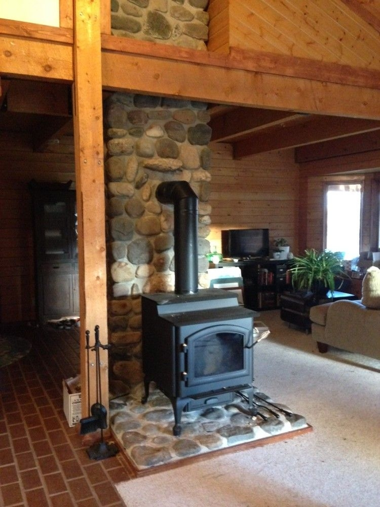 quadra fire 4300 step top wood burning stove woodstove Wood Stoves In Cabins