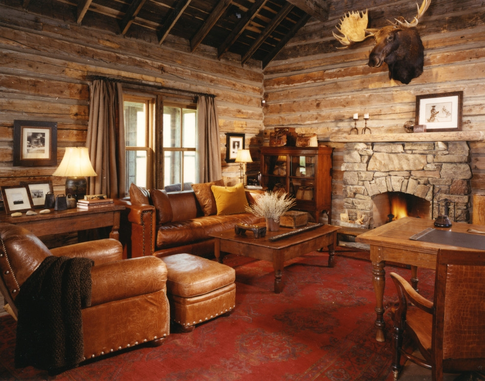 rustic family room rustic family room other Log Cabin Furniture At Houzz