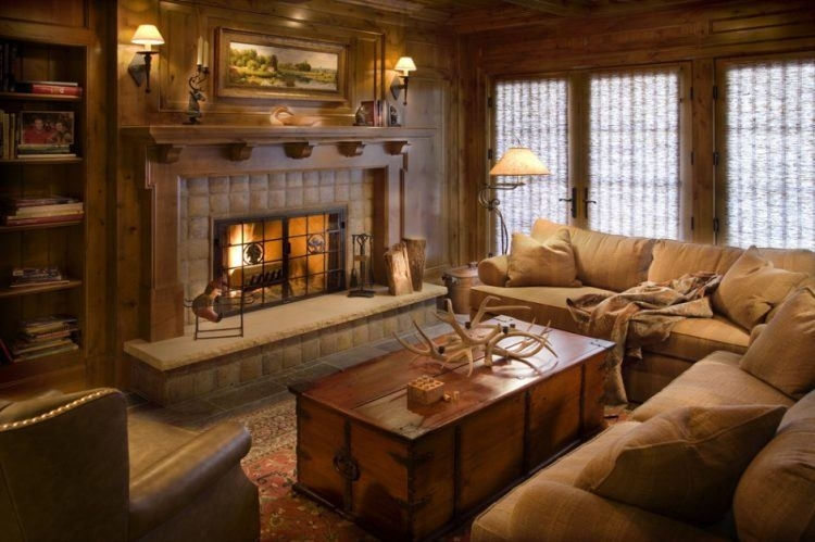 rustic living room decor brown gorgeous cabin inspired ideas Country Cabin Living Room Ideas