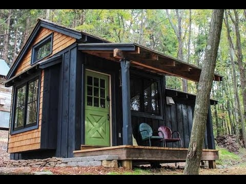 simple living in tiny cabin with bedroom porch Simple Cabin House
