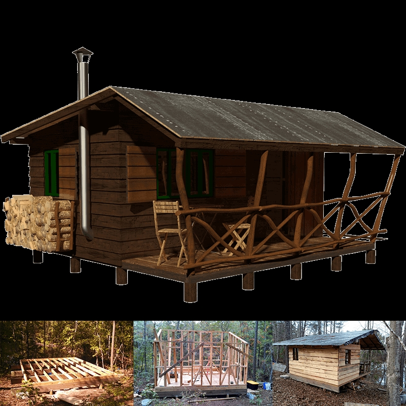 simple small cabin plans bettie Tiny Cabin Plans