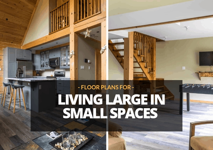small cabin plans living large in small spaces Small Cabin Floor Plans