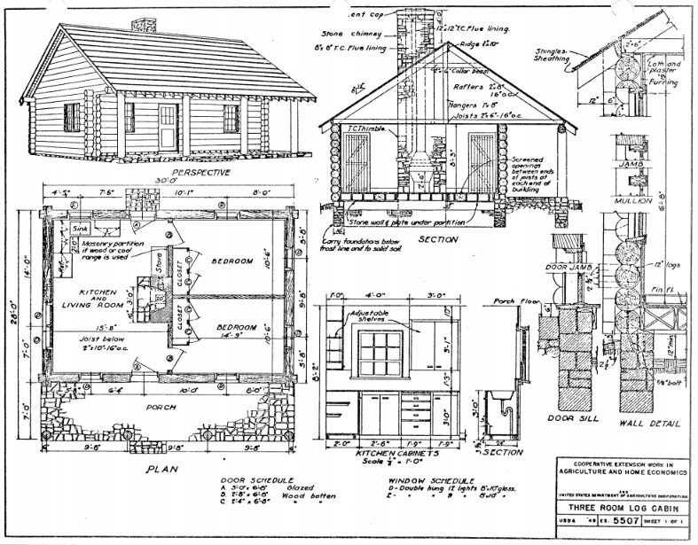 small cabin plans Small Cabin Plans
