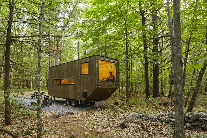 test drive a mini cabin in rural new york designs ideas Mini Cabin