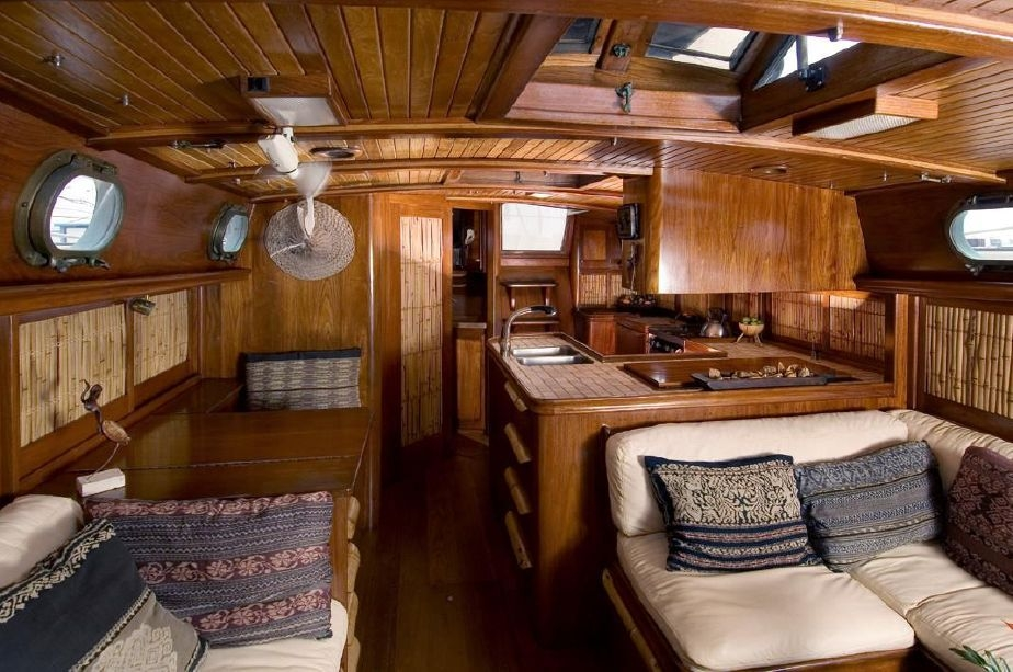 the most beautiful yacht interior i have ever seen on a Beautiful Wood Sailboat Cabins