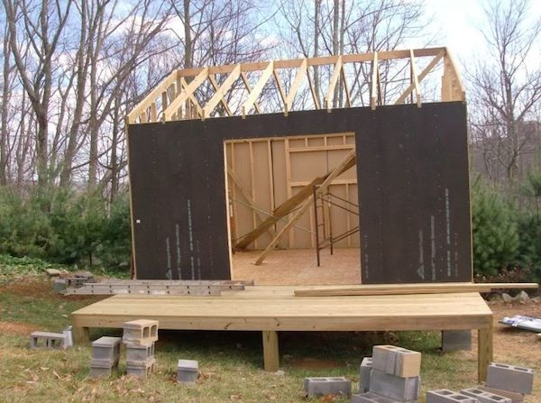 they built a mortgage free small house for 5900 building Small Cabin Self Build