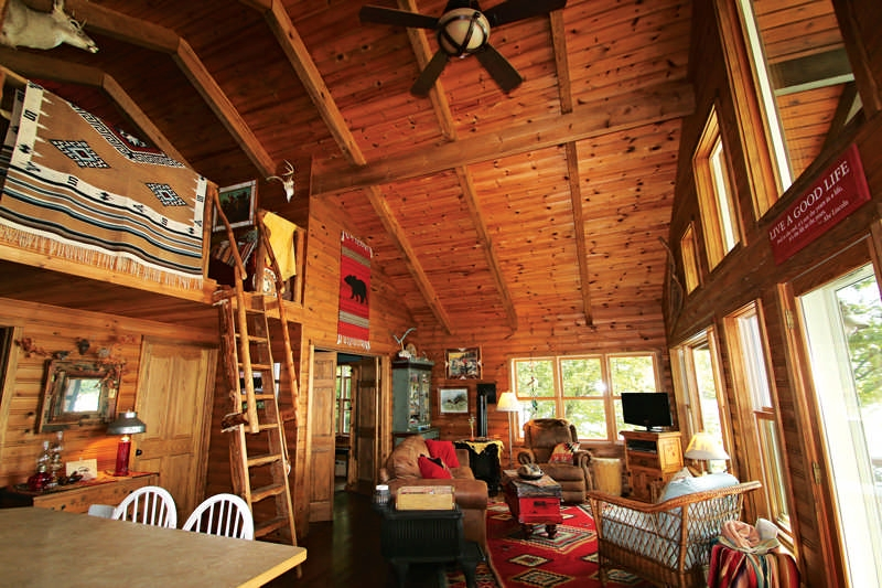 this cabin is off grid over the border cabin living Small Off Grid Cabin Interior