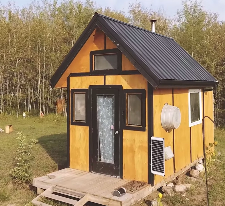this family built their off grid tiny cabin in just 12 days Tiny Cabin