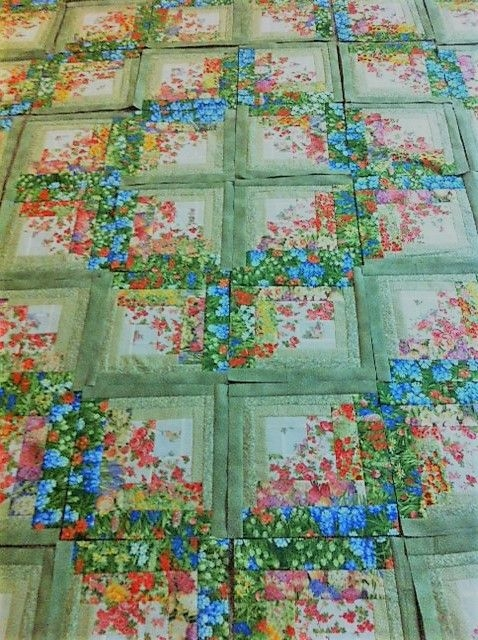 this log cabin quilt has a fresh new look quilting digest Log Cabin Quilts
