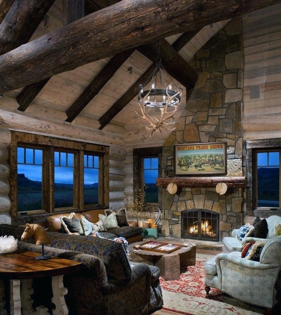 top 60 best log cabin interior design ideas mountain Cabin Living Room Ideas