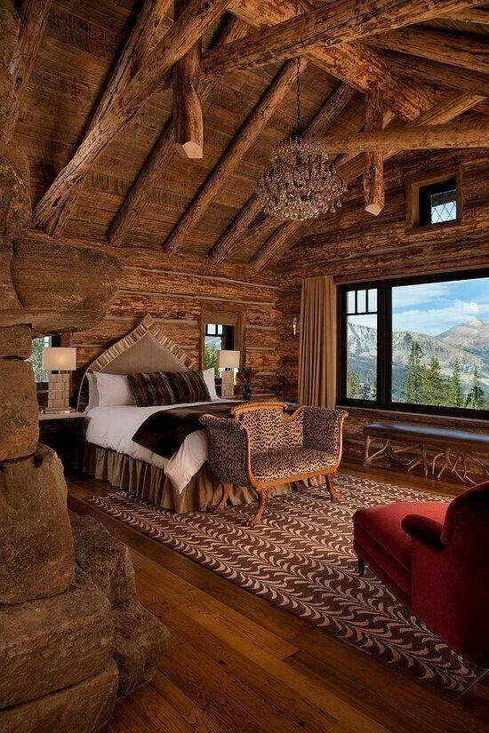 warm and cozy bedroom canon set up so pretty cabin bedroom How To Set Up A Log Cabin