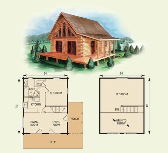 west virginian log home and log cabin floor plan log cabin Small Cabin With Loft Plans