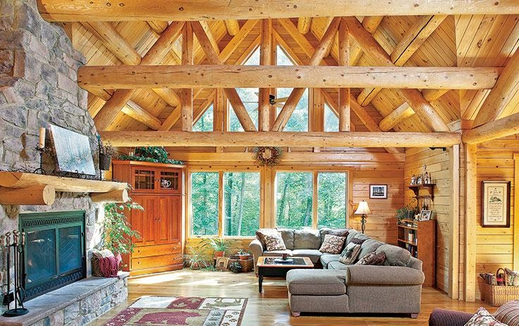 whats the difference between a log cabin and a timber cabin Cabin Interior Wall Material