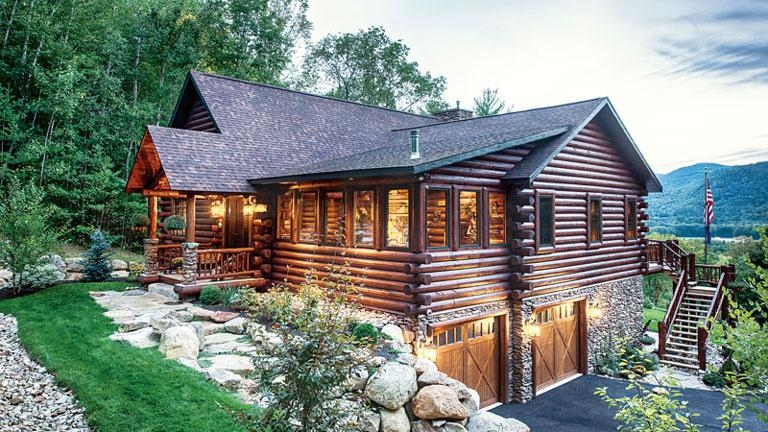 wood treatment options for log homes Cabin Houses