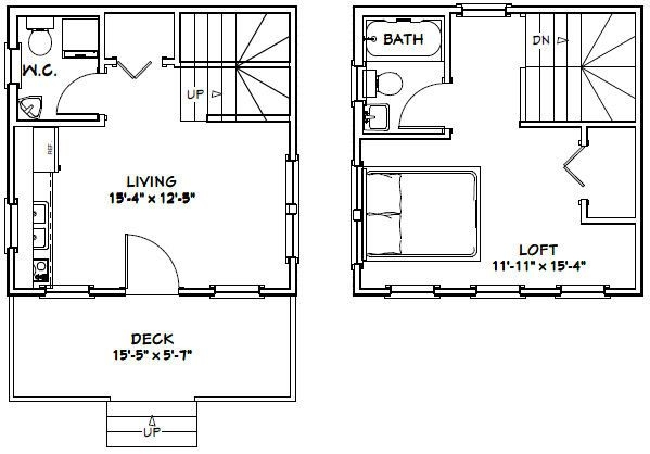 16×16 tiny house pdf house plans garage plans shed 16 X 16 Cabin Plans