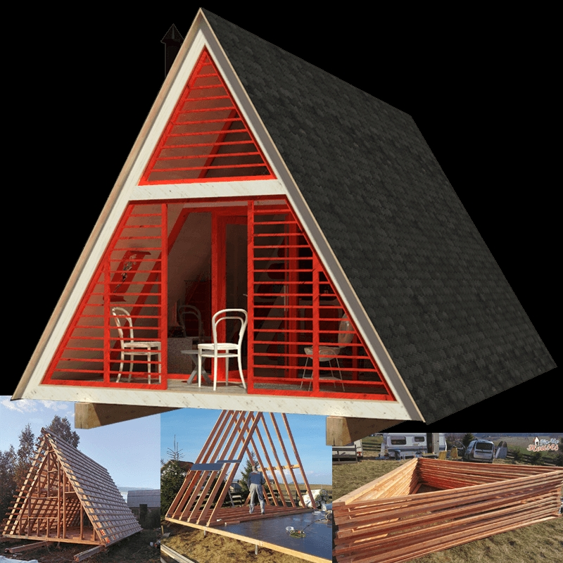a frame cabin plans dolores A Frame Cabins To Build