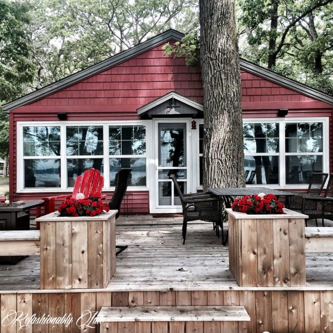 a lakeside cabin gets a fresh hue for summertime cabin Lake Cabin Makeover