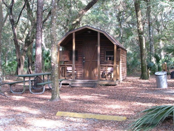 camping cabin at jay b starkey wilderness park campground Camping Cabins In Florida