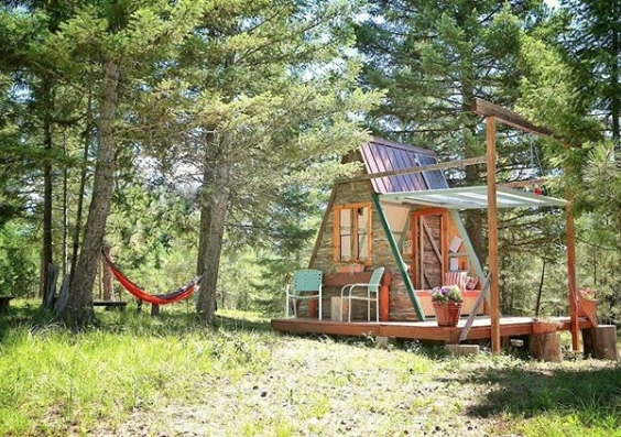 cheap tiny house this tiny a frame cabin cost just 700 A Frame Cabins To Build