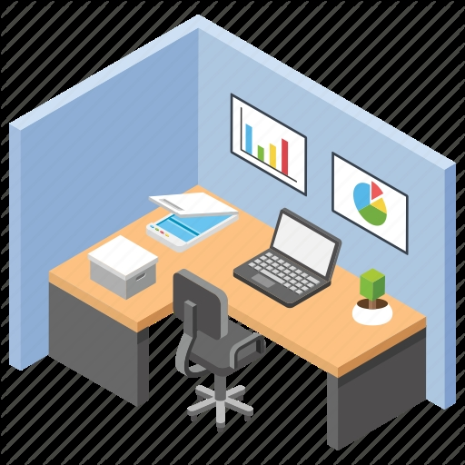 employee desk workplace office area office desks office cabin icon Images Of Office Cabin