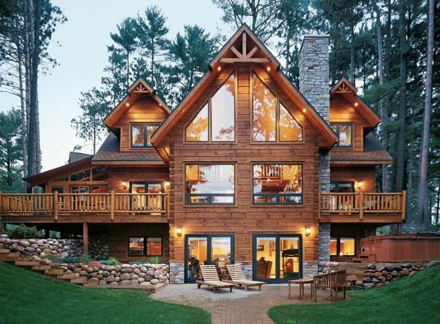 love custom built log home strongwood log homes cabin Log Cabin Style