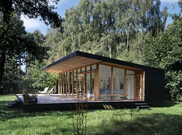 modern forest cabin in zealand island adorable home Forest Cabin Designs