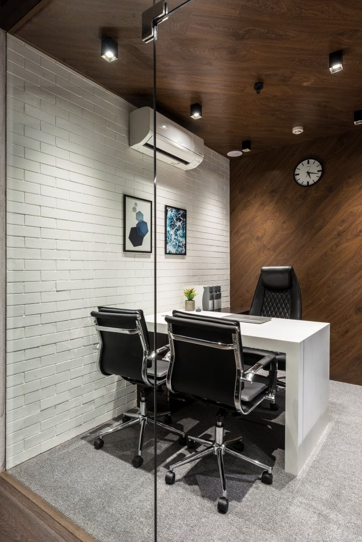office design is bold and spirited composition limited Office Cabin Design