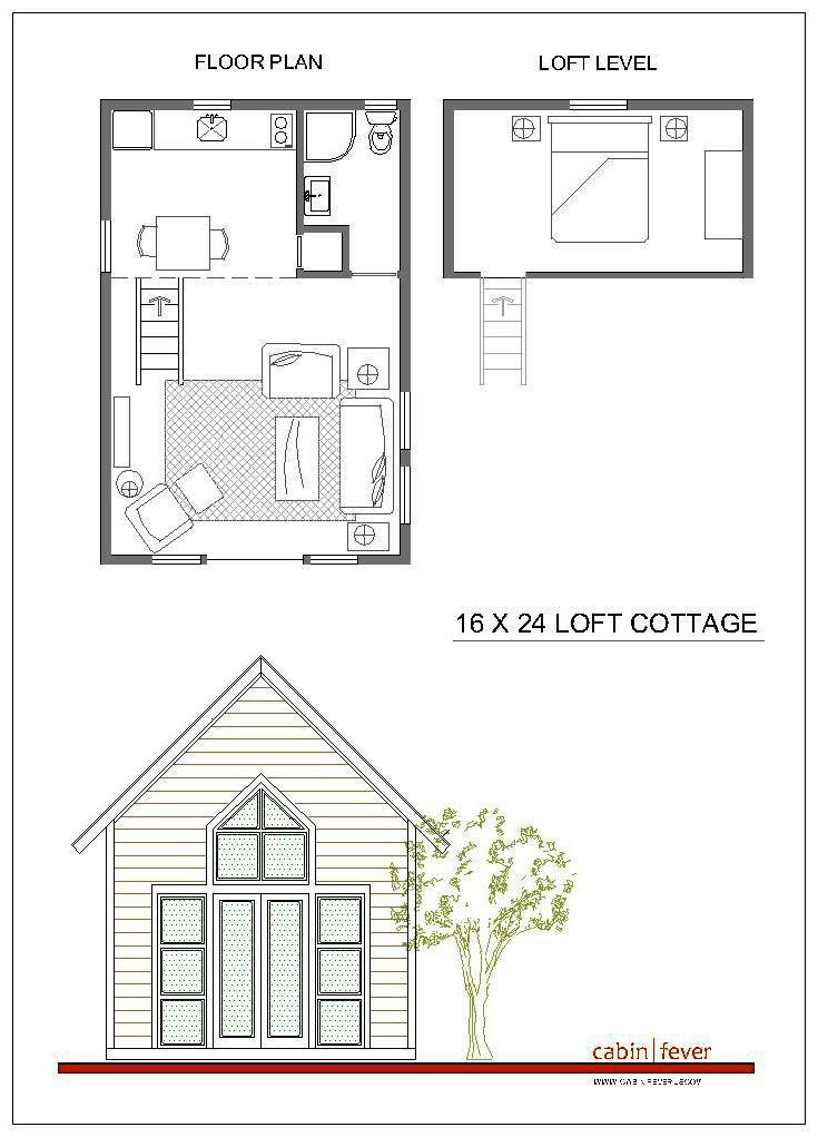 small cabin design 16 x 24 just right for two a great 16 X 16 Cabin Plans