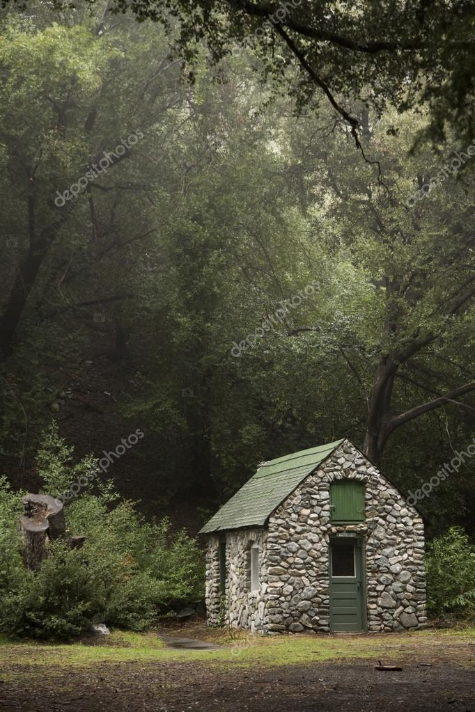 small stone cabin in the woods 35869459 Small Stone Cabin