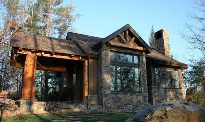 small stone cabin plans house mountain log floor kits Small Stone Cabin