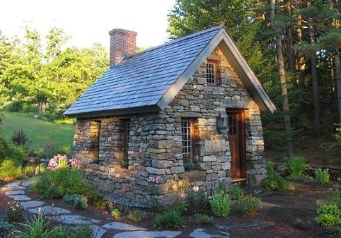 small stone cottages truly timeless tiny cottage Small Stone Cabin
