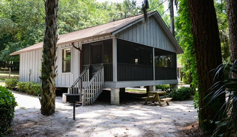 the rainbow rivers club rustic cabins Camping Cabins In Florida