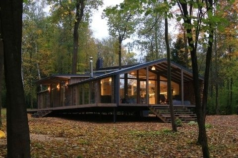 this prefab cabin was built in 10 days for only 80000 Modern Prefab Cabins