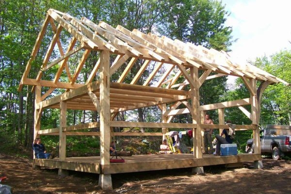 tiny post and beam house small timber framing post and Small Post And Beam Cabins