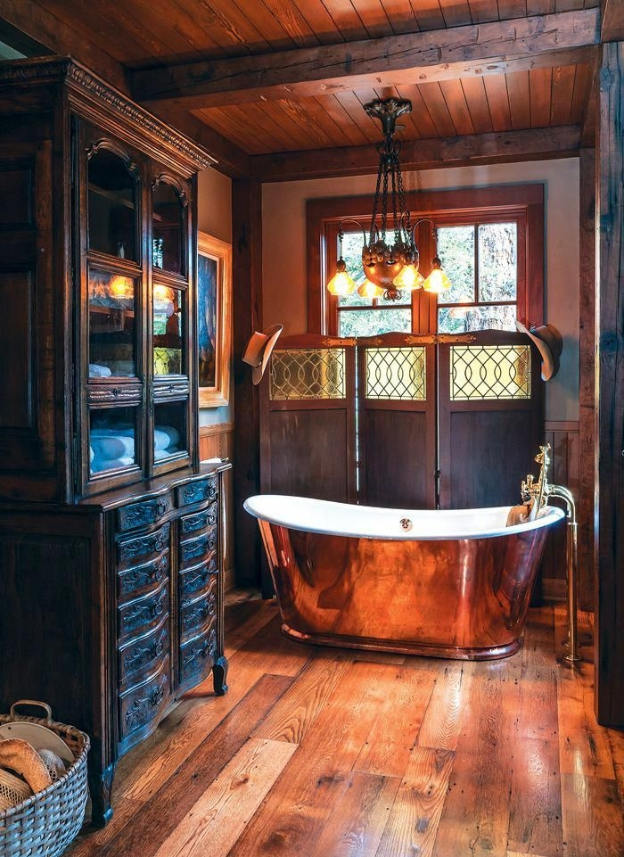 tour these bathsfrom rustic chic to rugged cabinand find Cabin Steampunk